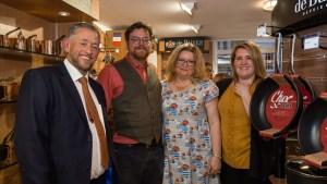 Gary Hawkins, Nathan Ward, Penny Ward and Ashley Ward