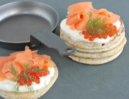 Range Cooker Recipes – Buckwheat blinis with smoked salmon and crème fraiche